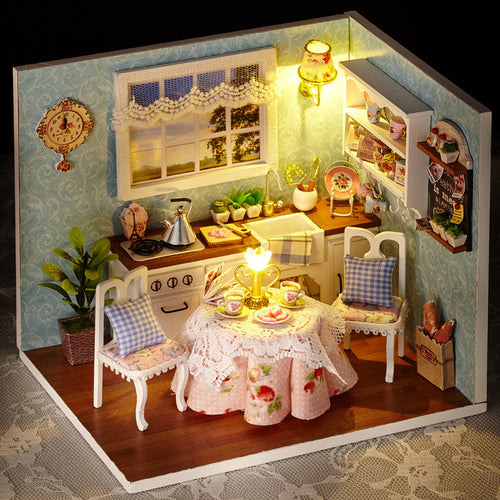 DIY Dollhouse - Happiness Series - Happy Kitchen - Toys & Games - Toys - Dolls, Playsets & Toy Figures - Dollhouses - PlayAge