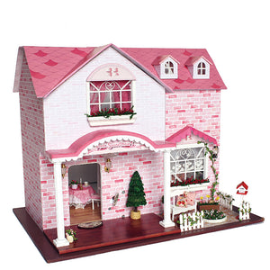 DIY Dollhouse - Pink Sweet Heart - Toys & Games - Toys - Dolls, Playsets & Toy Figures - Dollhouses - PlayAge