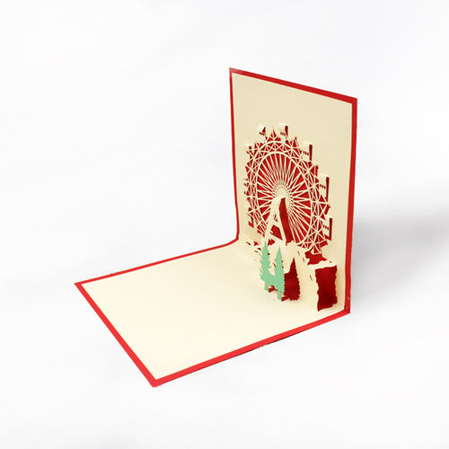 Papercutting Greeting Card - The Ferris Wheel - Arts & Entertainment - Party & Celebration - Gift Giving - Greeting & Note Cards - PlayAge