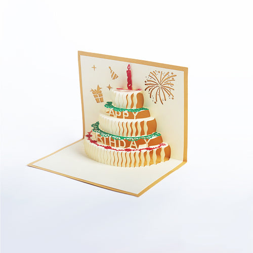 Papercutting Greeting Card - Happy Birthday Cake - Arts & Entertainment - Party & Celebration - Gift Giving - Greeting & Note Cards - PlayAge