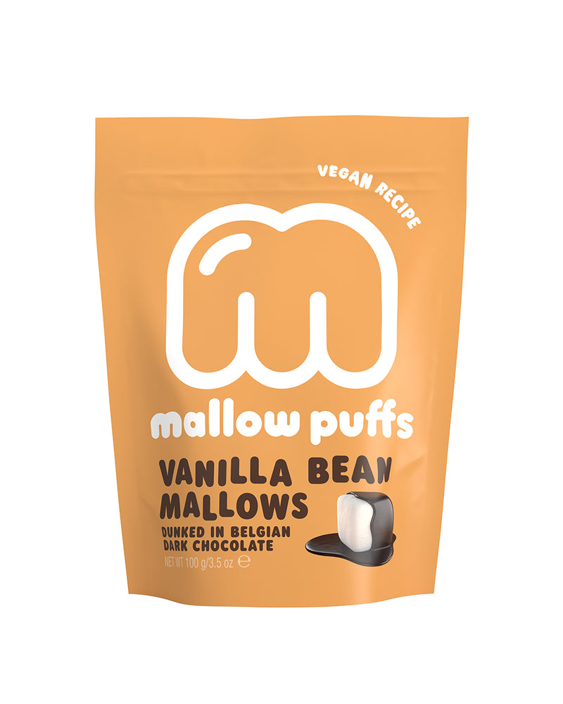 Mallow Puffs Vanilla Bean Mallows Dunked Belgian Chocolate