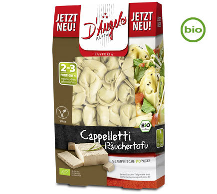 D'Angelo Organic Cappelletti Pasta Filled with Smoked Tofu