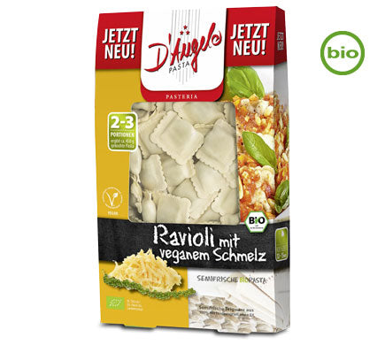 D'Angelo Organic Ravioli filled with Vegetable Cheese Melt