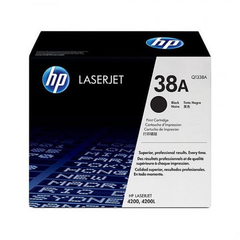 HP 38A (Q1338A) LaserJet 4200 Black Original LaserJet Toner Cartridge (12000 Yield)
