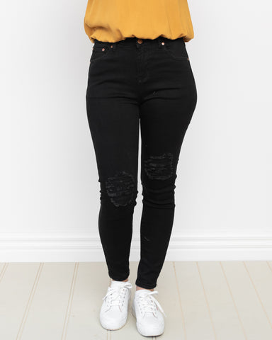 Rylan Distressed Jeans - Black