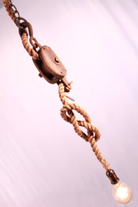 Single Rope Pulley Pendant - Antlerworx
