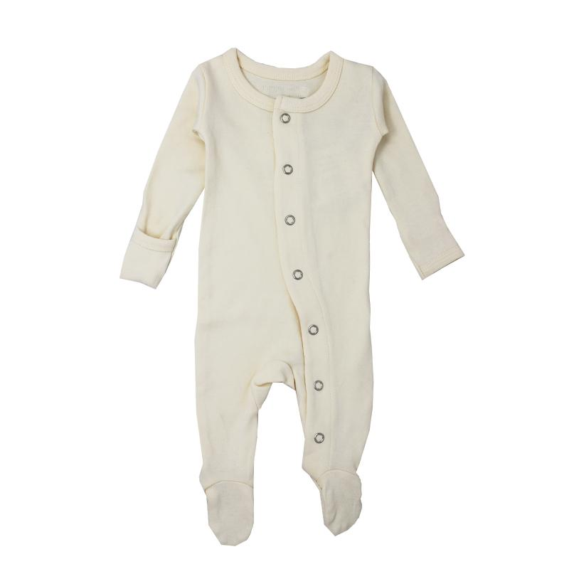 L'ovedbaby Organic Footed Overall, Beige