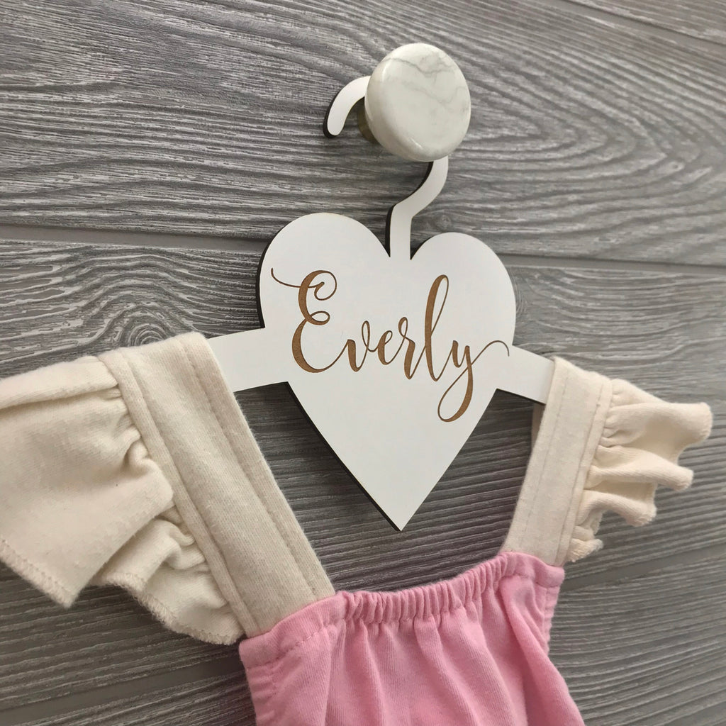 Personalized Heart Hanger