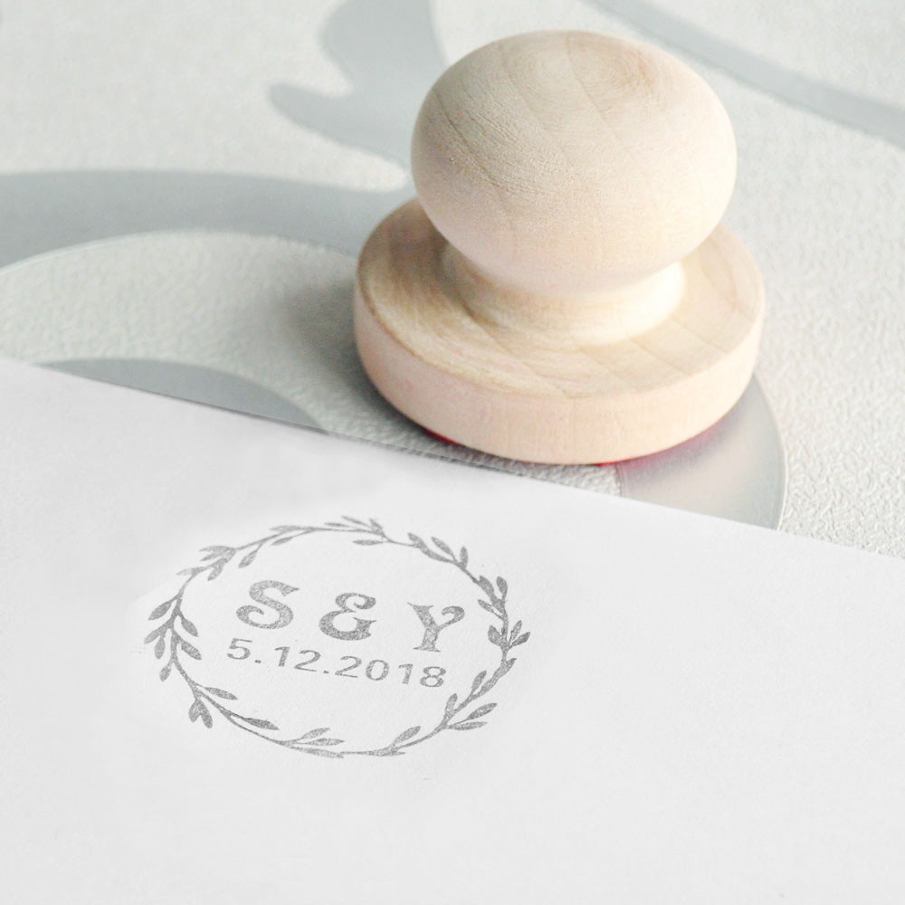 Customised Wedding Monogram Rubber Stamp