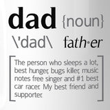 Dad Noun White Ceramic Coffee Mug Funny Design - Smart gadget & Accessories,Baby & toy