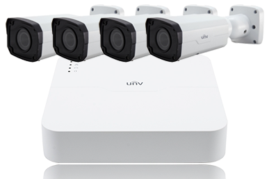 Uniview Kit: 1pc NVR, 4pcs Camera, 1pc Seagate 1tb Hdd