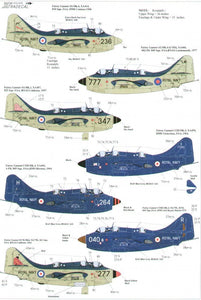 Xtradecal X72070 1/72 Fairey Gannet Model Decals - SGS Model Store