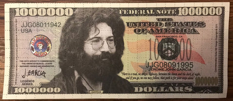 1,000,000 Jerry Garcia Blotter Bill (Double Sided)