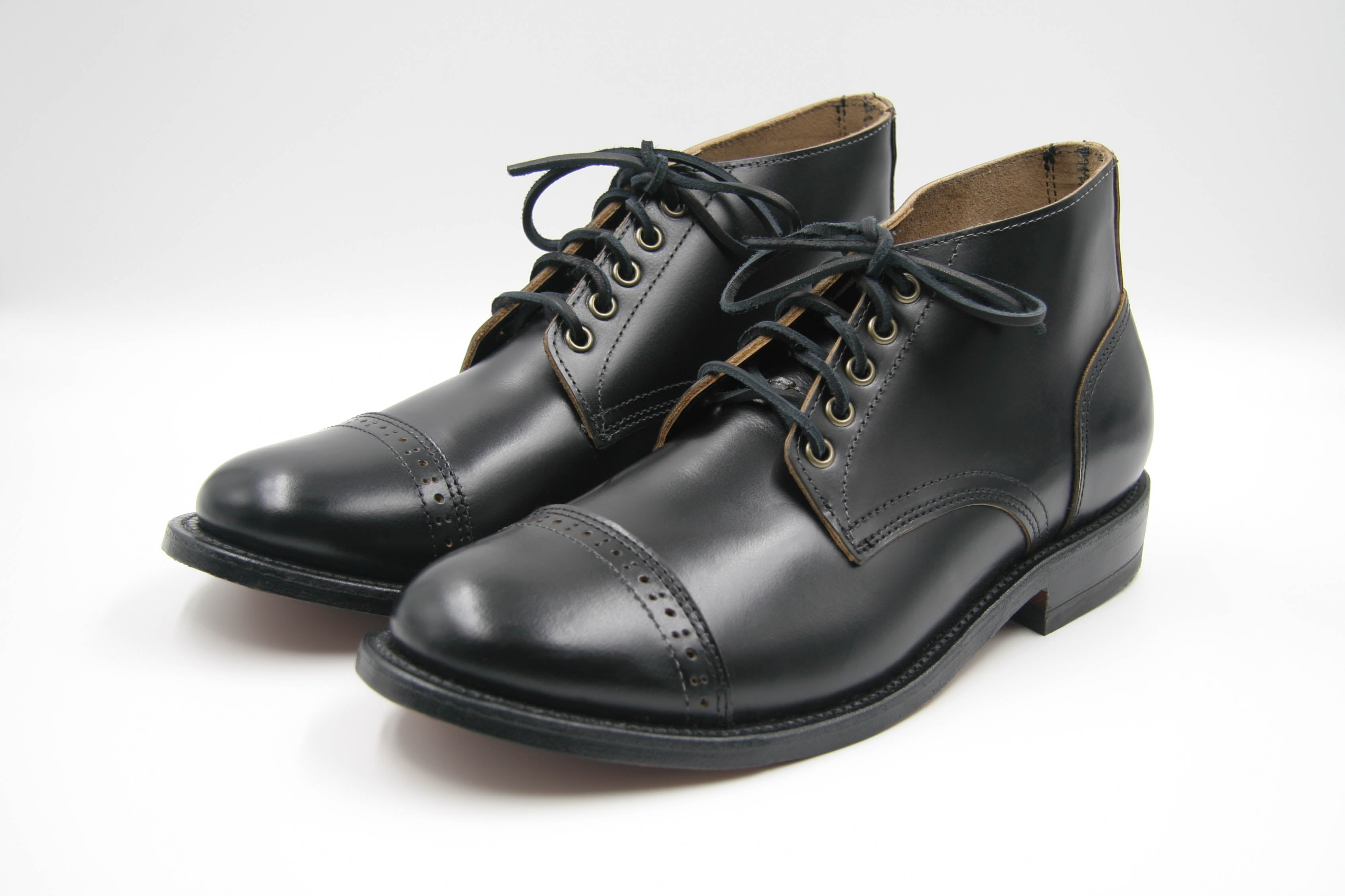 THOMAS WAGES x Oak Street Bootmakers Cap-Toe Trench Chukka, Black Espresso