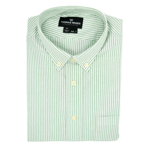 Green University Stripe Oxford Shirt