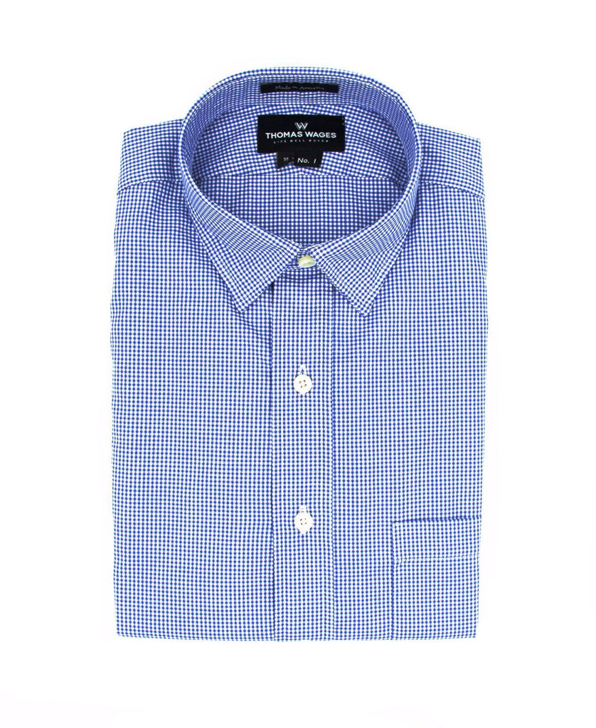 Purple Micro Gingham Shirt