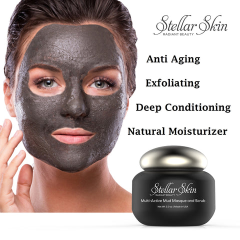 Face Scrub and Mud Mask in One