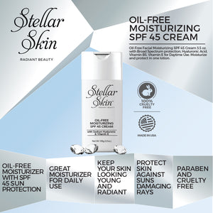 Oil-Free Moisturizing SPF 45 Cream