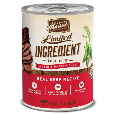 Merrick Limited Ingredient Diet Grain & Potato Free Real Beef Recipe Canned Dog Food