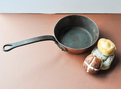 Hammered Copper Cooking Pot with Flared Sides by Dehillerin Paris