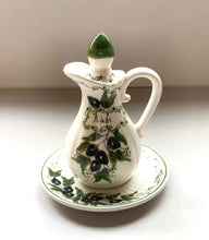 Olive Oil Pitcher with Plate