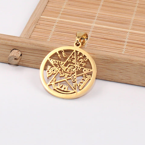 gold esoteric supernatural pendant without chain
