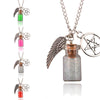 Image of Supernatural Handmade Angel Wing, Pentagram, And Salt Bottle Protection Necklace - Available In 7 Colors