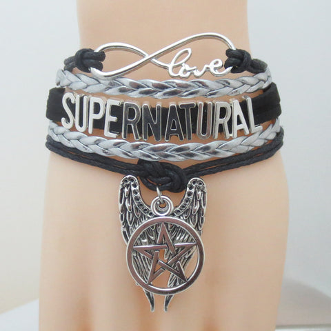 Picture of the silver Supernatural bracelet.
