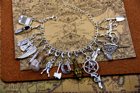 Picture of Supernatural bracelet in stainless steel.