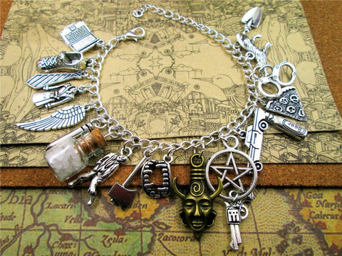 Picture of Supernatural bracelet in stainless steel...unique version.