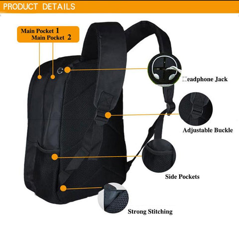 Features of backpack.