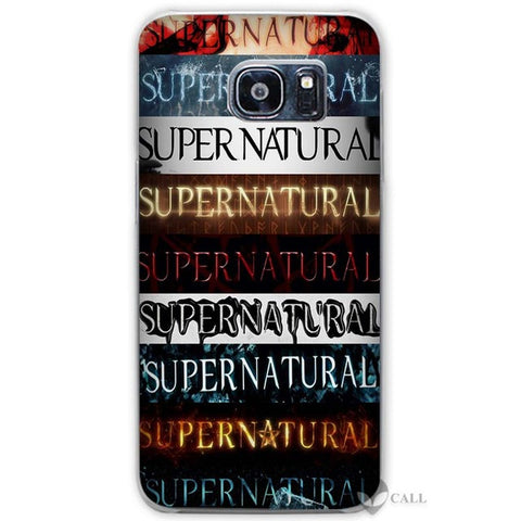 Supernatural Titles Galaxy phone case.