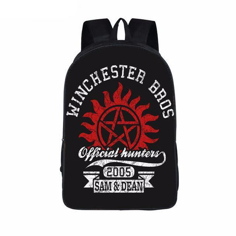 Supernatural backpack - Red Pentagram Logo
