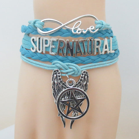 Picture of the turquoise Supernatural bracelet.