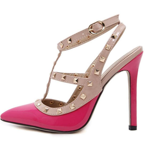Ladies Sexy Pointed Toe High Heel Sandals