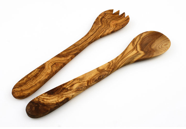 Tramanto Olive Wood Salad Servers- French