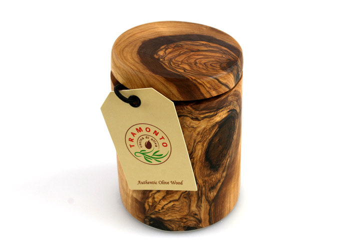 Tramanto Olive Wood Spice Pot