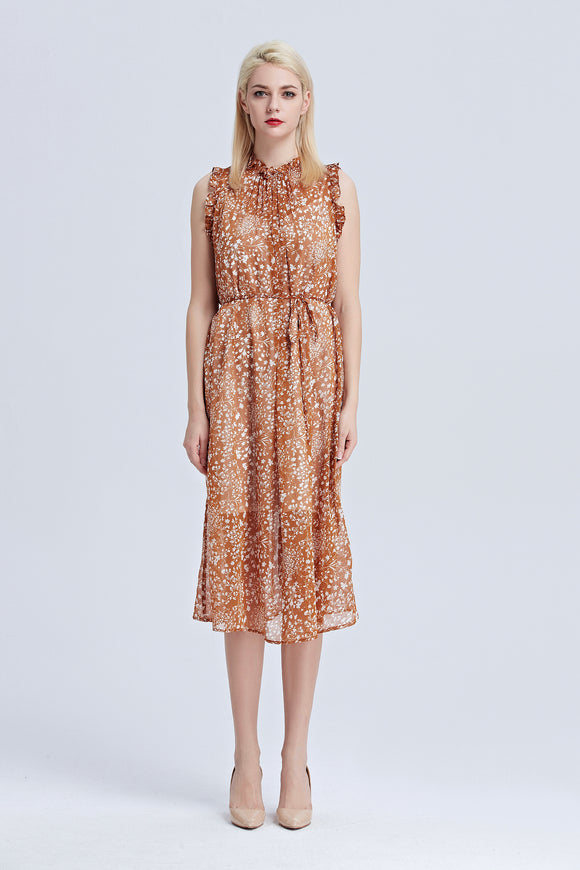 Helena-Floral-Midi-Dress-Rust-Main