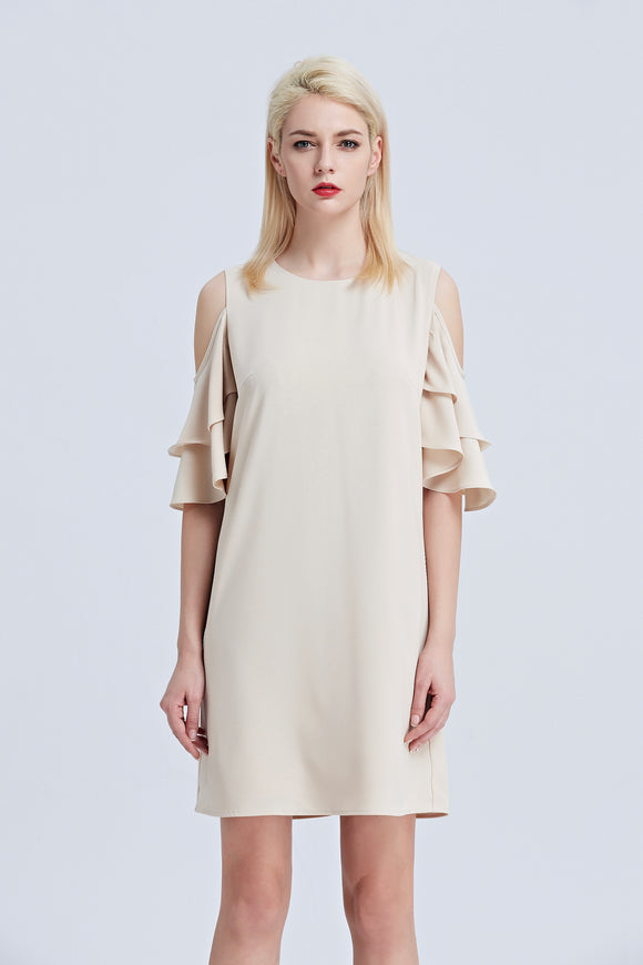 Asteria-Cold-Shoulder-Shift-Dress-Main