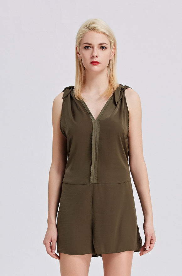 Khaki-Sleeveless-Romper-Main