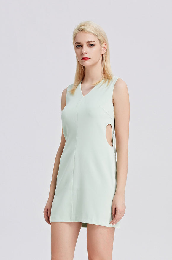 CUT-OUT-SHEATH-DRESS-CYAN-Details