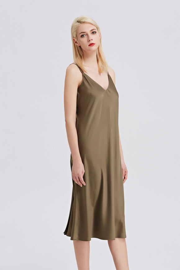 Midi-Slip-Dress-Khaki-Main