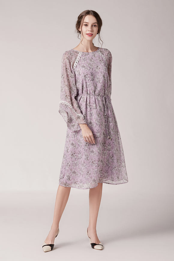 Karen-Lilac-Printed-Dress-Lilac-Main