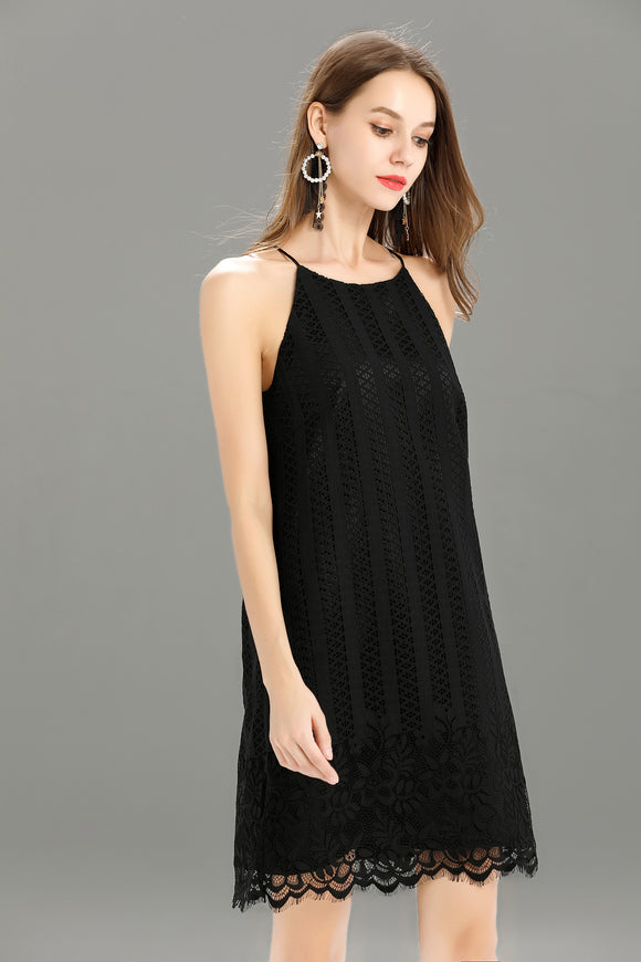 Helena-Lace-Shift-Dress-Black-Main