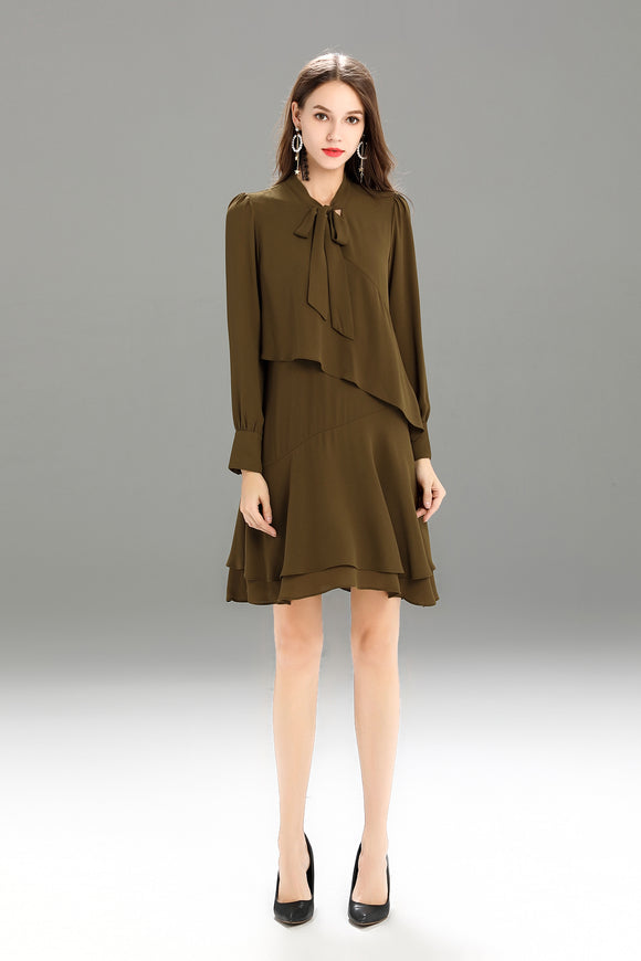 Zegna-Shift-Dress-Khaki-Main