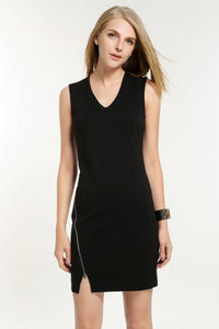 OFF-CENTRE-ZIP-FASTENING-DRESS