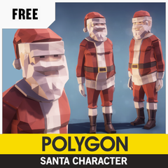 Free Low-Poly 3D Asset from Synty Studios, Christmas Santa