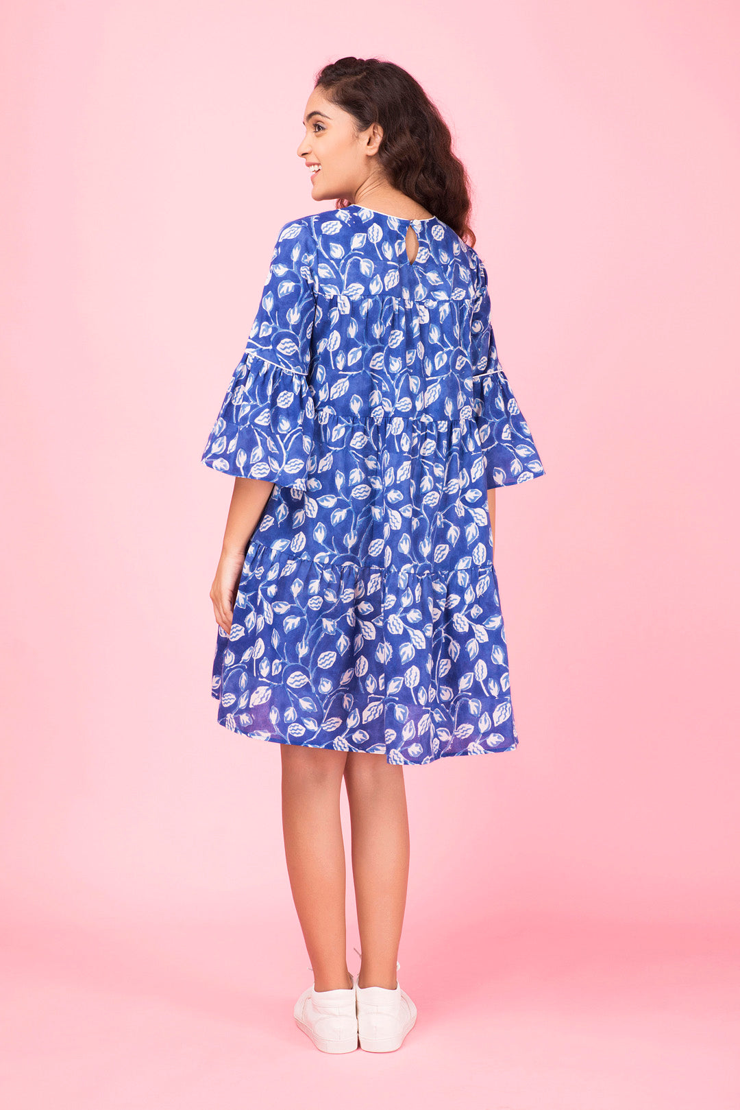 Ink Blue Tiered Dress