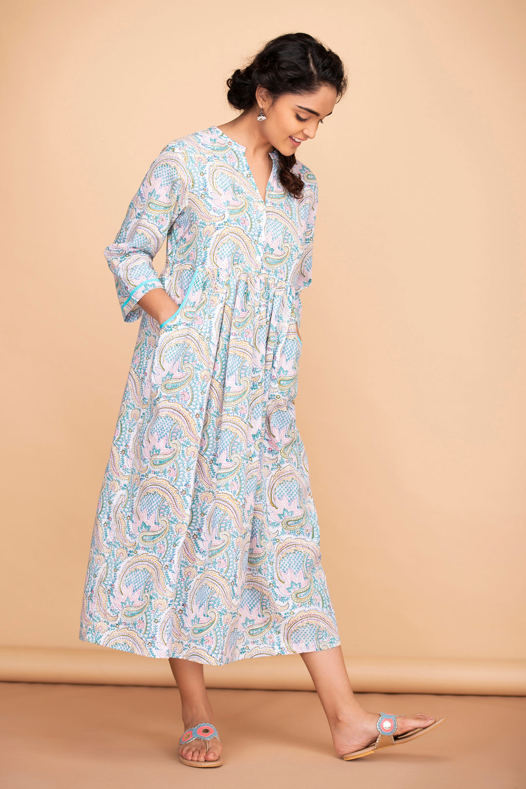 Paisley Pouch Pocket Dress
