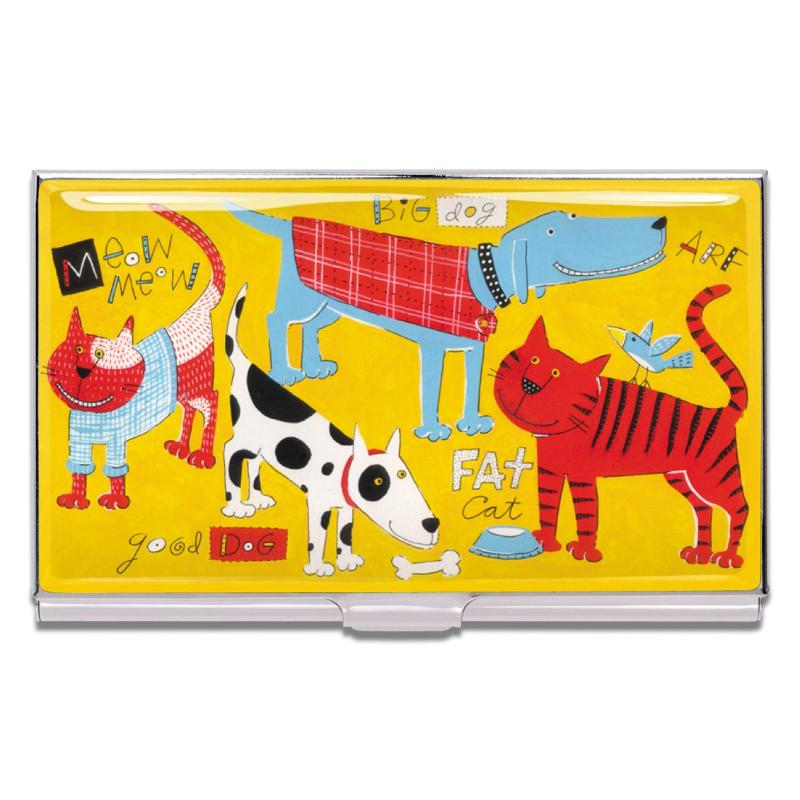 """Cats & Dogs"" Card Case by Nancy Wolff"